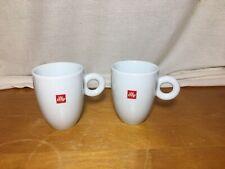 2 EUC Illy Coffee Cups IPA 10 Ounces To Rim
