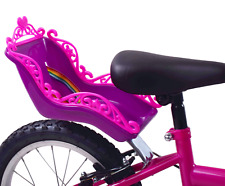 Oxford Purple/Pink Deluxe Rear Kids Girls Bike Dolly Doll Teddy Seat Toy Carrier
