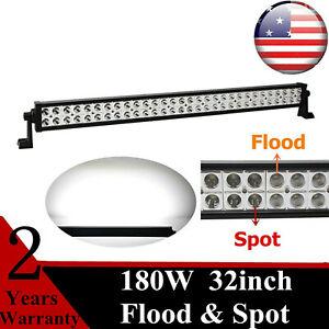 32'' 180W LED Light Bar Slim Combo 12V 24V Tacoma Chevrolet Ford 31'' 33'' 42''