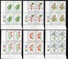 ZIMBABWE MNH 1989 Wild Flowers Cylinder Block of 4