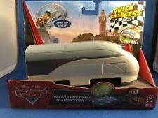 Disney Pixar Cars Deluxe Spy Train Transporter Quick Changers Race