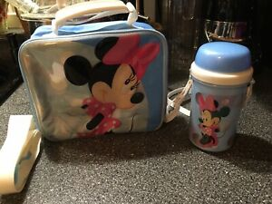 Blue Minnie Mouse Lunch Box Bag Insulated With Canteen Disney Store Exclusive