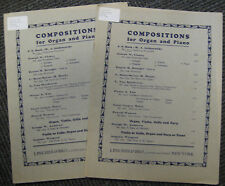 Compositions for Organ and Piano