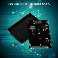 "1x M.2 NGFF SSD to 2.5"" SATA III Enclosure 7mm Drive Adapter 2242 NEW 2280 D7F3"