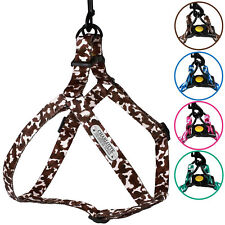 Personalized Dog Harness Step in Adjustable Nylon Harnesses Camo Design S M L