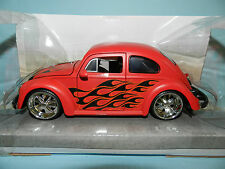 Jada 1/24 1959 Volkswagen Beetle Red With Flames Big Time Kustoms MIB
