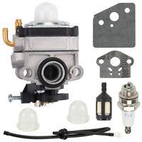 Carburetor Fuel filter spark plug for Troy-Bilt TBE515 TB514CS TB525CS TB525ET