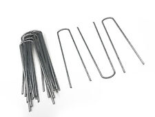 Pack Of 10 Galvanised Metal Ground U Tent Pegs Gazebo Camping Tarpaulin Hooks