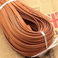 5M Cuir Véritable Cordon Plat Corde Ruban Rayure Sangle DIY Bracelet