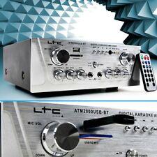 Stereo Amplifier Music Karaoke Hi-Fi 100W USB MP3 SD Bluetooth Home Cinema Party