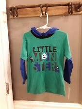 Nannette kids boys hooded long Sleeve shirt size 4T Nwt�Fast Ship 🙂