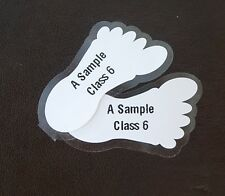 PEEL AND STICK SHOE LABELS -:-