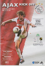 Programma / Programme Ajax Amsterdam v NAC Breda 25-08-2012