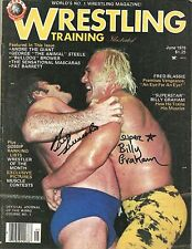 Sbg60 Superstar Graham signed Wrestling Magazine w/Coa Bruno Sammartino
