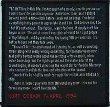 Vintage Patch - Kurt Cobain Suicide Note 1994
