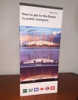 LONDON TRANSPORT THE DOME BUS RAIL TUBE UNDERGROUND DLR TIMETABLE LEAFLET GUIDE