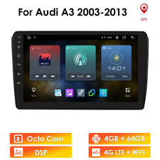 """For Audi A3  Android 10 9"""" 8-Core 4+64GB Car Stereo Radio GPS Wifi 4GLTE DSP RDS"""