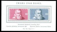 Switzerland #B178 MNH S/S CV$77.50 XF 10c & 20c IMABA ex Perfectum