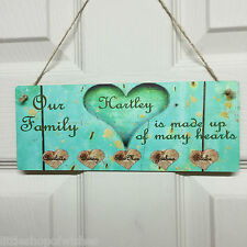 Family Tree Gifts Personalised Hearts Sign Parents Children Grandparents Plaques