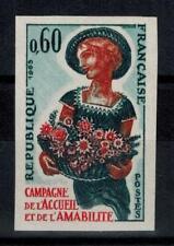 "(b29) timbre France n° 1449a neuf** année 1965 ""non dentelé"""
