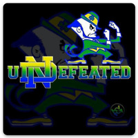 Notre Dame uNDefeated Fighting Irish Leprechaun Silhouette Type Magnet