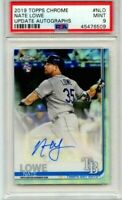 2019 TOPPS CHROME UPDATE NATE LOWE RC AUTO #NLO GRADED PSA 9 MINT! TB RAYS