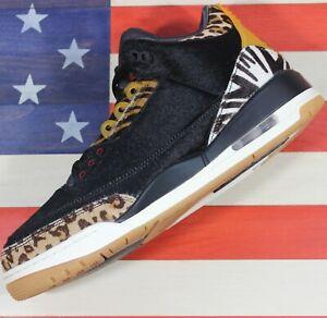 Nike Air Jordan 3 Retro SE Animal Fur Pack Black Gum Shoe III [CK4344-002] 10.5