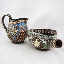 Pot à Lait et Caquelon EMAUX DE THOUNE Suisse Céramique thun/swiss art/milk jug