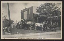 Postcard LORAIN Ohio/OH  Hamilton St Moving Out After Tornado Disaster 1920's