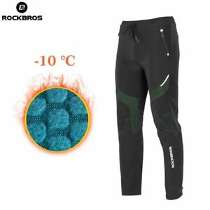 Pants Men Winter Cycling Hiking Windproof Warm Thermal Fleece New Long Trousers