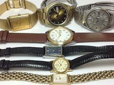 LOT OF (7) UNTESTED VINTAGE SEIKO WATCHES DX AUTOMATIC, SQ, DAY & DATE...  (E72)