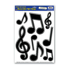 Musical Note Peel & Place - 50's Rock & Roll Party Wall Cling Decorations
