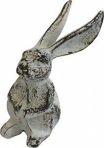 Rabbit Long Ears Rustic White Decoration