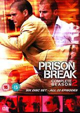 Prison Break: Complete Season 2 DVD (2009) Wentworth Miller cert 15 6 discs