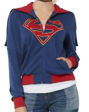 DC COMICS HEROES SUPERGIRL ZIPPERED HOODED COAT JACKET COSPLAY HOODIE MD NWT