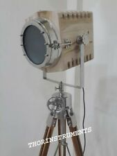Collectible Theater Nautical Hollywood Spot Light Tripod Floor Lamp Home Decor