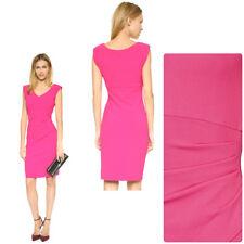Diane von Furstenberg Dress Bevin Crepe Ceramic Rushed Sheath Pink fuchsia