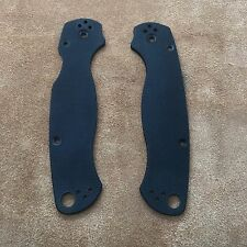 Spyderco Paramilitary 2 Scales ~ Authentic Black G-10 Blk6