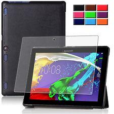 9H Hartglas Folie+ Tasche Lenovo tab 2 A10-70/ A10-30 10.1 Tablet Etui Cover-3