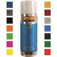Hycote Colour Aerosol Spray Paint DIY Neon Lens Satin Lacquer Primer Gloss Matt