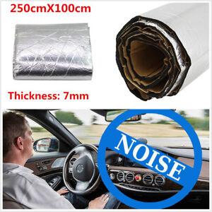 Car Heat Shield Sound Deadener Noise Firewall Insulation Aluminum Foil Mat 7mm