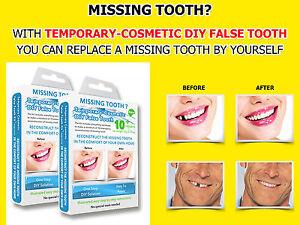 2x Temporary Missing Tooth Repair Kit TEETH REPLACEMENT REPAIR FALSE DIY TOOTH