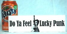 Clint Eastwood .. Feel Lucky Punk  44 Magnum Bumper Sticker BOGO