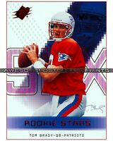 "TOM BRADY, NEW ENGLAND PATRIOTS RARE, UPPER DECK FOOTBALL ROOKIE CARD 8""x10"""