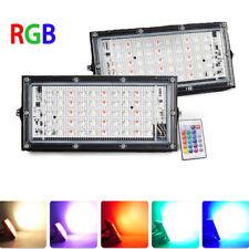 LED RGB Fluter Flutlicht Farbig Scheinwerfer Gartenstrahler AußenLicht 50W 220V