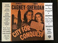 CITY FOR CONQUEST ORIGINAL 1940 MOVIE HERALD - JAMES CAGNEY, ANN SHERIDAN