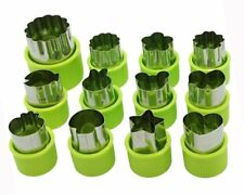 Selecto Bake - 12x Stainless Steel Vegetable Cutter Shapes Set