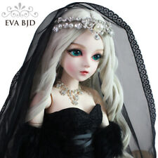 "1/3 Bride BJD SD Doll Black Dress Handmade Makeup 24"" 60cm Wedding Toy Gift"