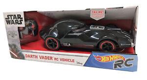 New! Hot Wheels Star Wars R/C Darth Vader Remote Control Car Vehicle 1:18 Mattel