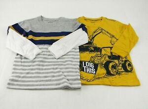 Carter's 2-pc Mix + Match Baby/Toddler Boy's Gray/Yellow T-shirt/Top Size 2T